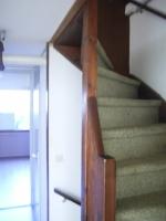 trap met bekleding voor het schilderwerk
