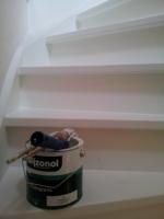 trap schilderen met aqua Wijzonol verf