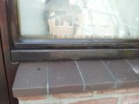 oude laklaag en ventilatieglaslat verwijderen