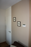 wandafwerking met  schilderwerk ral 9010