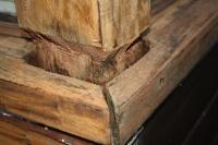 staat van het werk na verwijderen oud lakwerk en houtrot