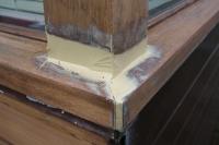 staat van het werk na aanbrengen houtrotvuller